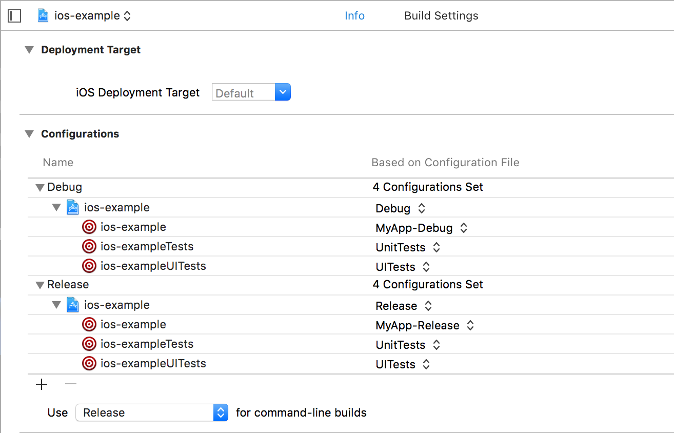 Xcode Settings For xcconfig