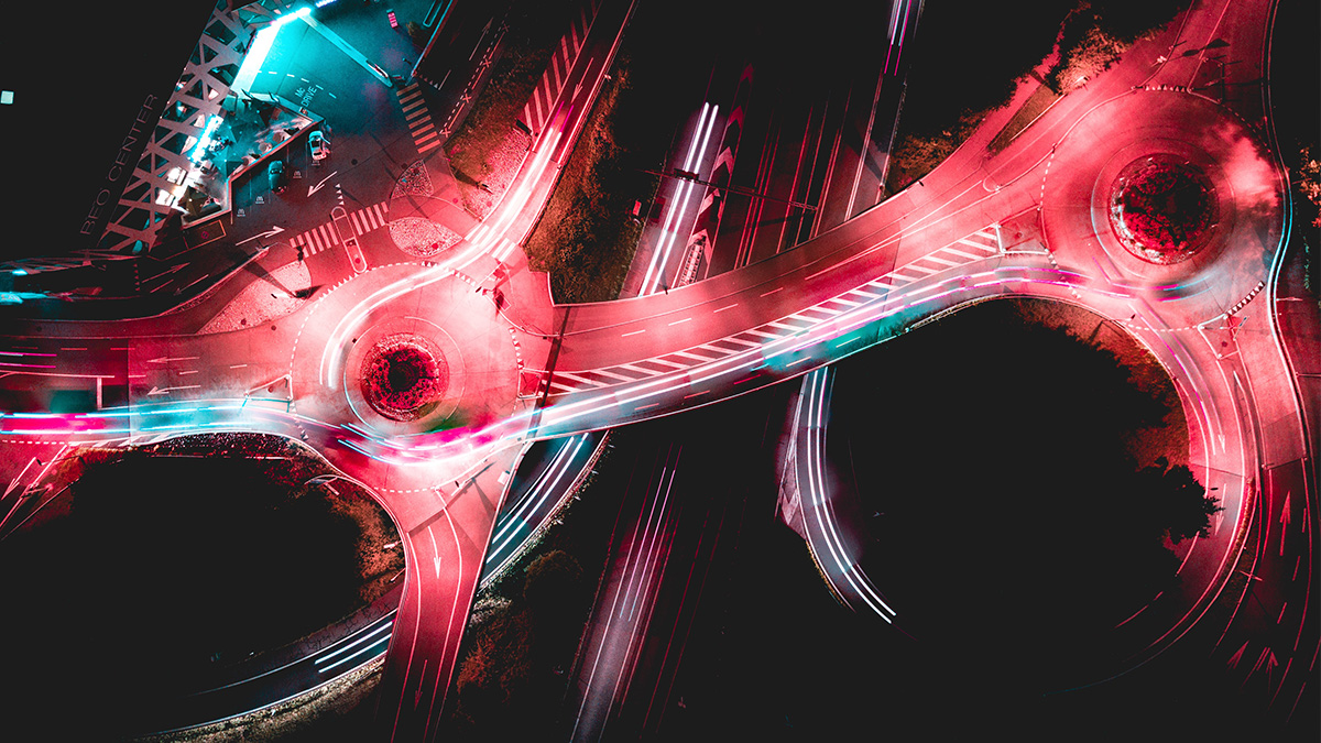 abstract highway intersection